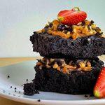 Vegan Peanut Butter Choc Brownie